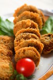 grzyby okruszki chleba fotografia stock