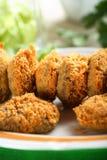 grzyby okruszki chleba zdjęcia stock