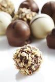 Grzywnów kawałki dekorująca czekolada zdjęcie royalty free