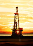 Gás e produção de petróleo Imagens de Stock
