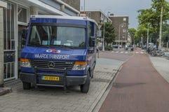 4GS Money Transport范At阿姆斯特丹东部荷兰2018年 库存照片