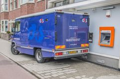 4GS Money Transport范At阿姆斯特丹东部荷兰2018年 免版税图库摄影