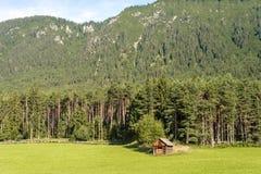 Gschwent su Sonnenplateau, Austria fotografia stock libera da diritti