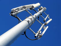 GSM Antenna. Against blue sky Royalty Free Stock Photography