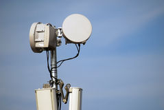 Gsm Antenna. On A Blue Sky Royalty Free Stock Images