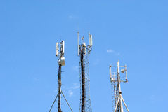 GSM Antenna. Against blue sky Stock Photography