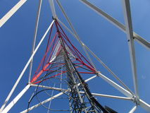 GSM antenna. Steal construction - GSM antenna in blue sky Stock Images