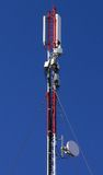 GSM Antenna. S tower on a blue sky background Stock Photos