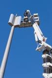 GSM antenna. Installation of a GSM antenna with a platform Stock Photos