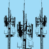 GSM antenna silhouette  Stock Photography