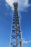 Gsm antenna. With sky background Royalty Free Stock Image