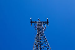 GSM cellsite antenna array. For the cellular telephone system on a tower Royalty Free Stock Photography