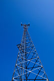 GSM cellsite antenna array. For the cellular telephone system on a tower Royalty Free Stock Photos