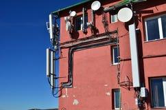 GSM communicatie antennes Stock Fotografie