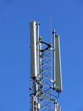 GSM networking antenna. At the top of transmitter tower Royalty Free Stock Photography
