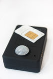 Gsm pir运动检测器与sim卡片的传感器警报 免版税库存图片