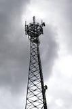GSM reciver toren, technican klimmer Royalty-vrije Stock Fotografie