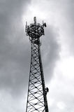 GSM transmitter tower, technican climber Royalty Free Stock Photography