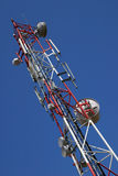 GSM telecommunication tower. Telecommunication tower Royalty Free Stock Images