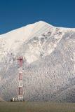 GSM toren in bergenverticaal Royalty-vrije Stock Afbeelding