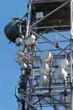 GSM toren met antennes Royalty-vrije Stock Foto