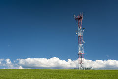 GSM tower. In sunny sumer day Stock Photo