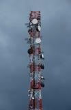 Gsm tower. Over stormy sky Stock Photos