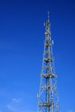 GSM tower. Steel tower with different telecommunications Stock Photos