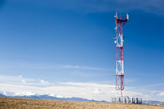 GSM tower in sunny day stock photography
