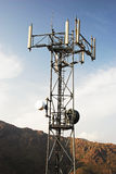 GSM Transmitter. In the mountains Royalty Free Stock Photography
