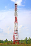 Gsm transmitter. Cellular tower. Royalty Free Stock Photo