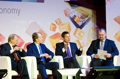 GSMA 2012 - Barcelona: Explorando a nuvem móvel Imagem de Stock