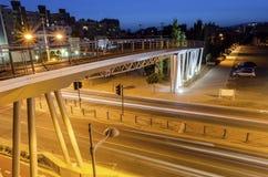 GSO-sportar parkerar bron, Limassol, Cypern Arkivfoto