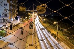 GSO-sportar parkerar bron, Limassol, Cypern Royaltyfria Foton
