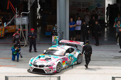 GSR Team exits the pit at superGT Race Stock Photography