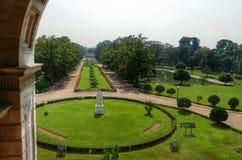 Gsrden dans le mémorial de Victoria Inde de Calcutta image libre de droits