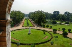 Gsrden in Victoria memorial. Calcutta India Royalty Free Stock Image