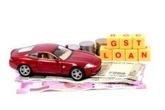 Gst和汽车贷款 库存图片