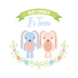 2017 04 10 1663 GST. Baby shower related icons set vector illustration design Stock Photos