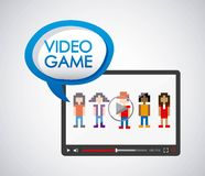 2016 02 28 1178 GST BIG. Video game design,  illustration eps10 graphic royalty free illustration