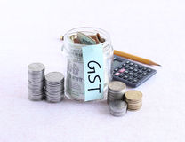 GST, o beni e tassa di servizi, concetto Fotografia Stock