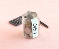 GST oder Waren und Service-Steuer, Konzept Stockfotografie