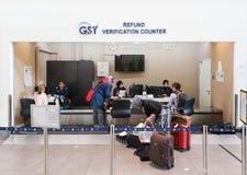 GST refund verification counter, Kuala Lumpur Airport Stock Photo