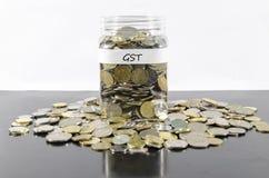 GST SAVINGS W słoju Zdjęcie Stock