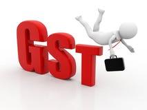 GST-Steuer-Indien-Konzept lokalisiert im weißen Hintergrund 3d übertragen lizenzfreie abbildung
