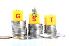 Gst taxes Royalty Free Stock Image