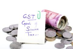 Gst taxes Royalty Free Stock Photos