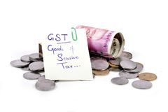 Gst taxes stock image