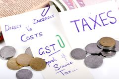 Gst taxes Royalty Free Stock Images