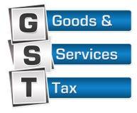 GST - Waren-und Service-Steuer-Blau Grey Squares Vertical Lizenzfreie Stockbilder
